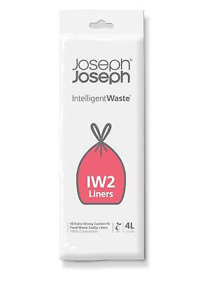 Joseph Joseph IW2 Food Waste Caddy Liners – 4 Litre x 50 Bags