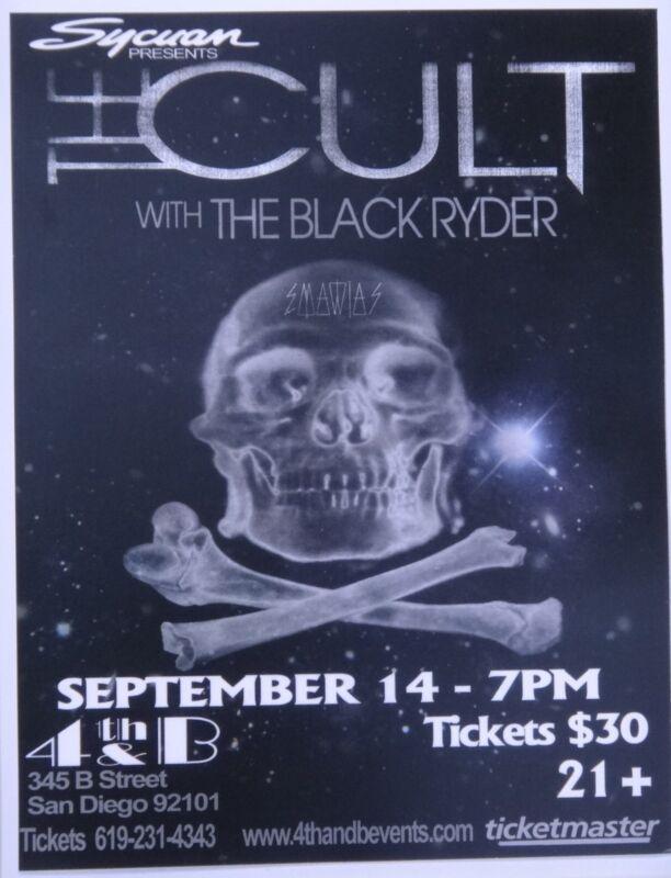 THE CULT / BLACK RYDER 2010 SAN DIEGO CONCERT POSTER - Ian Asbury & Aimee Nash