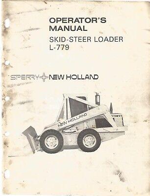 New Holland L-779 Loader Operator's Manual