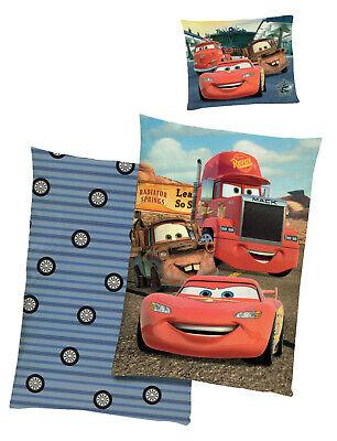 Disney Cars Bettwäsche Hometown Bettbezug140x200 Kissenbezug 70x90 Baumwolle Neu