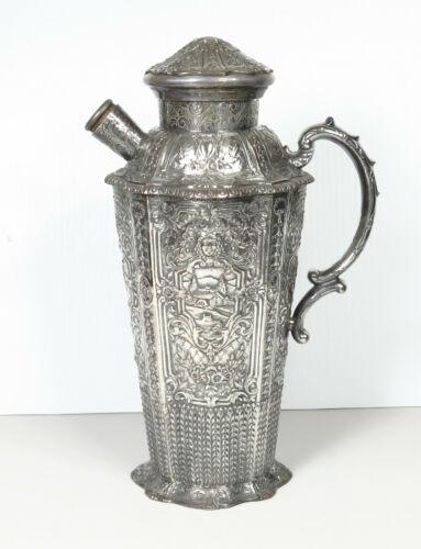 EG Webster & Son Silver Plate Dutch Renaissance Revival Cocktail Shaker