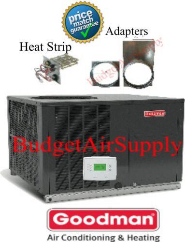 """3.5 (3 1/2)Ton 14 seer Goodman A/C""""Package Unit GPC1442H41+TSTAT+Heat+ADAPTERS"""
