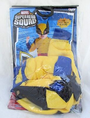 Marvel Wolverine Super Hero Squad Toddler Size 2T Small Halloween Costume
