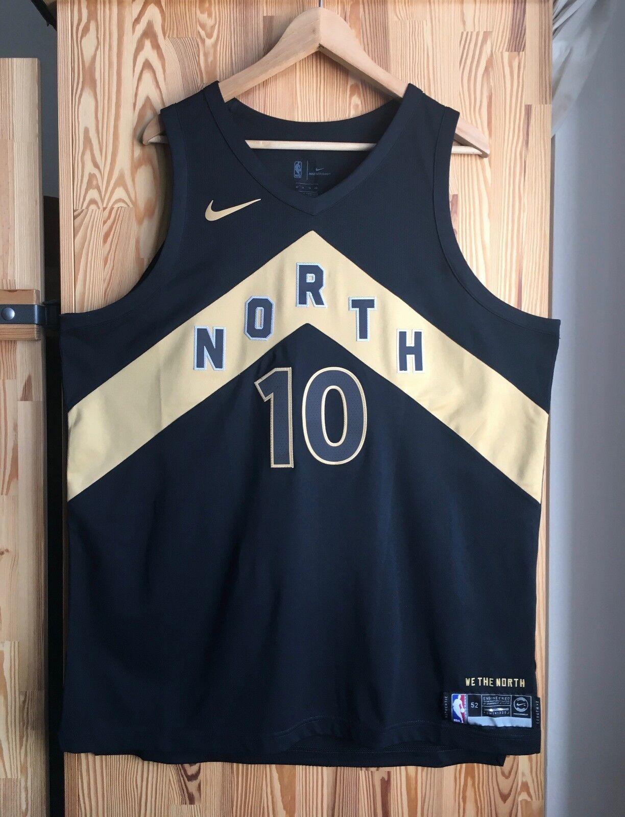 AUTHENTIC DeMAR DeROZAN Nike CITY Jersey TORONTO RAPTORS XL NORTH OVO NBA Carter