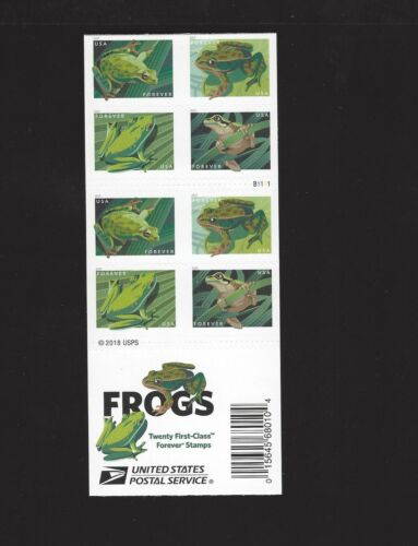 5395 - 5398 Frogs Forever Double Sided Pane of 20