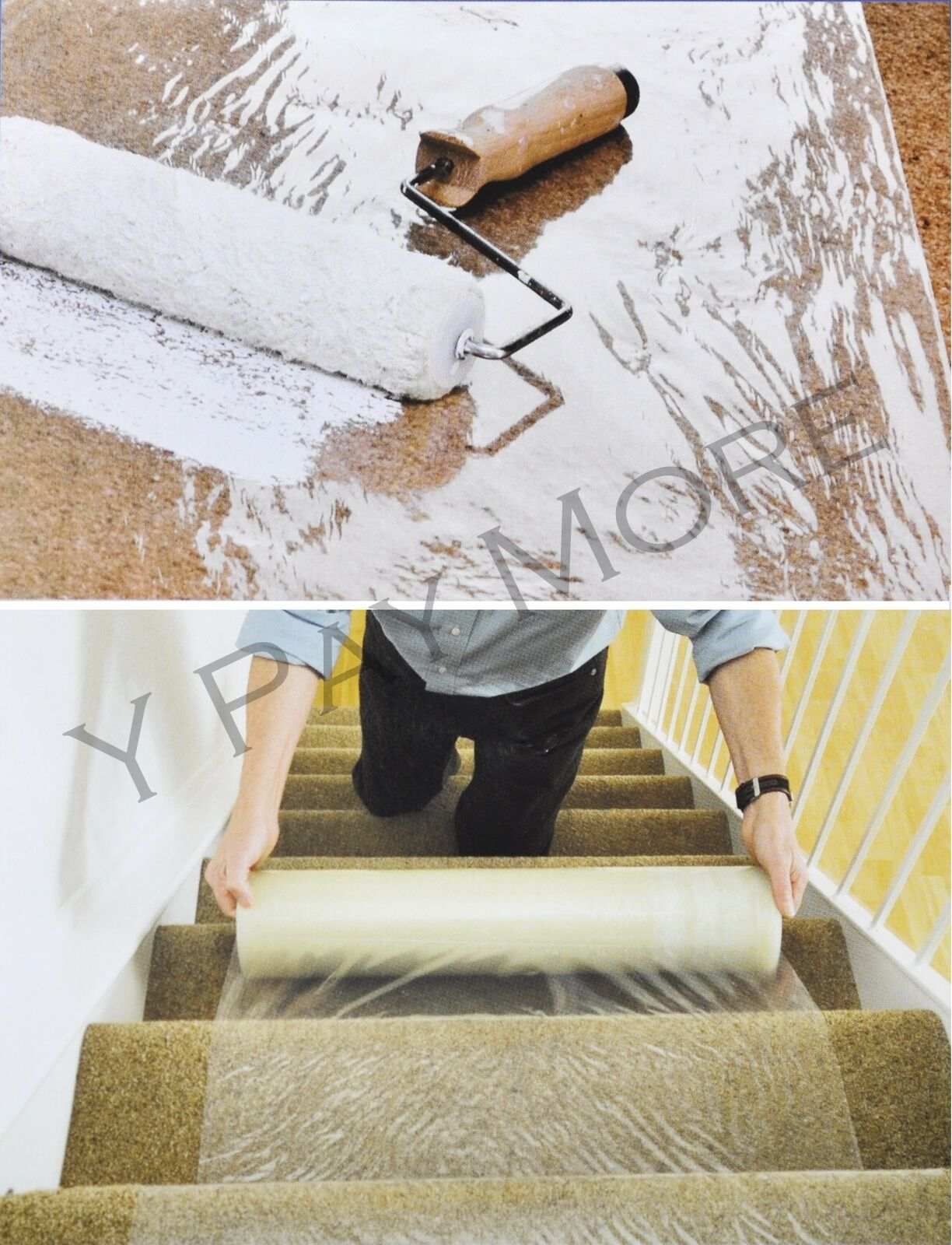 Carpet Floor Protection Self Adhesive Protector Clear Roll