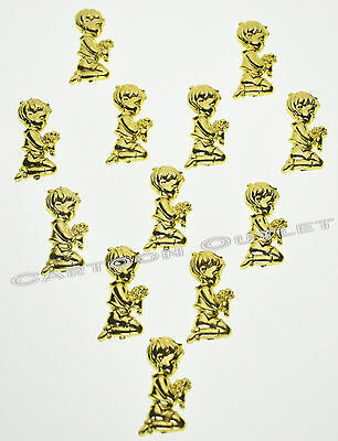 12 PC GOLD BOY FIRST COMMUNION FAVORS CUPCAKE CAKE DECORATION PRIMERA COMUNION - First Communion Cupcakes