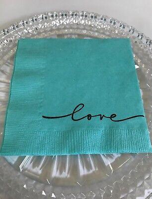 Breakfast At Tiffany InspiredWedding, Bridal Shower, Party, Event Love Napkins