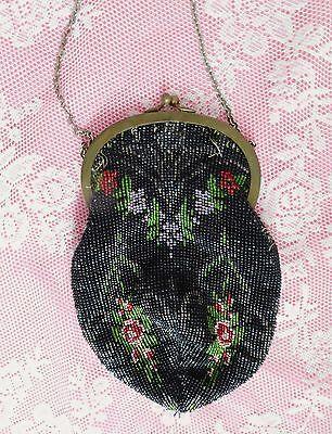 antike Perlenstickerei Perlentasche Operntasche Abendtasche Tasche Handtasche