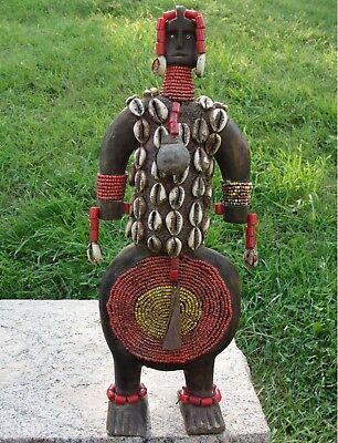Namji Doll Beads Shells Old African Tribal Statue Figure Africa Namchi Fertility