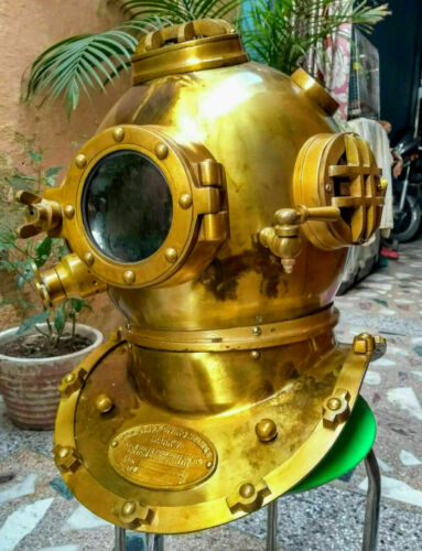 Collectible Scuba Diving Divers Helmet 18 Inch U.S Mark V  Antique Finish