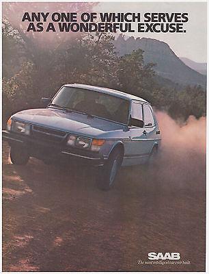 Original 1983 Saab Vintage Print Ad- Most Intelligent Car Ever