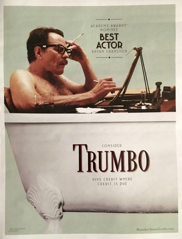 TRUMBO Oscar advertisement Bryan Cranston Academy Award FYC ad