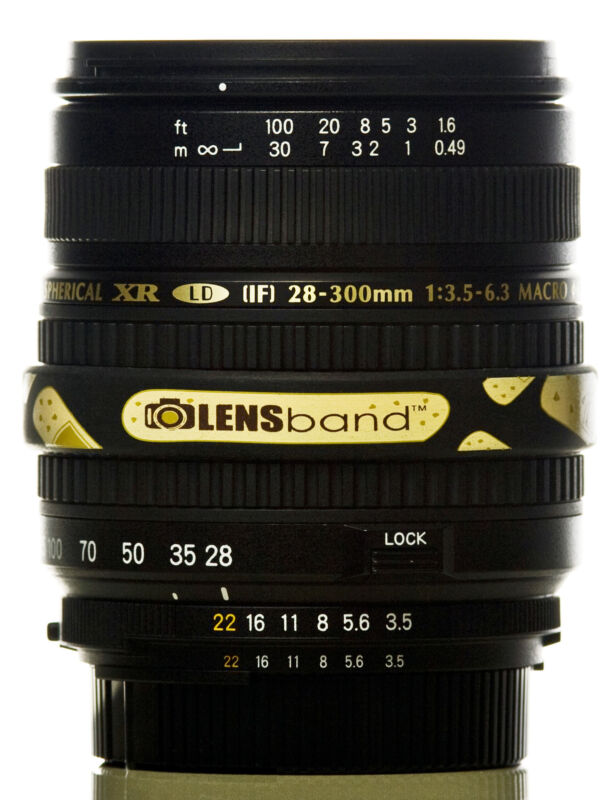 Lens Band STOP ZOOM CREEP for Nikon 18-200mm in BAND AID