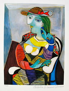 Pablo-Picasso-MARIE-THERESE-WALTER-Estate-Signed-Numbered-Small-Giclee