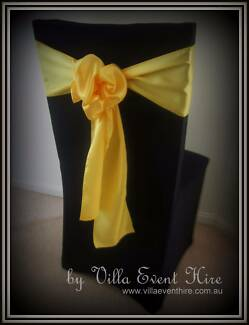 Black Lycra Chair Covers for hire