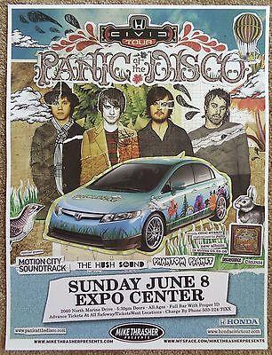 PANIC AT THE DISCO 2008 Gig POSTER Portland Oregon Concert