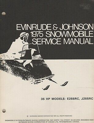 Manuals - Evinrude Johnson Snowmobile - Trainers4Me