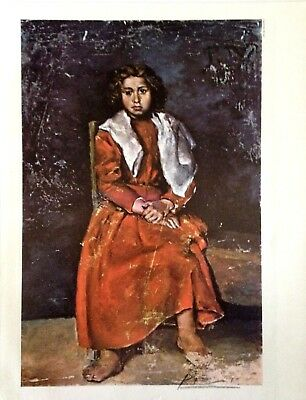 PABLO PICASSO HAND SIGNED SIGNATURE * GIRL WITH BARE FEET * PRINT W/ C.O.A.