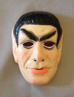Vintage Ben Cooper Mr. Spock Halloween Mask 1975 Leonard Nimoy - Captain Kirk Mask Halloween