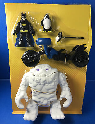 Imaginext CLAYFACE in White and BATMAN with BLUE BATPOD from Penguin Lair Set