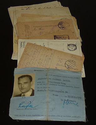 K.u.K. Feldpost Sammlung 1.WK +  2.WK Österreich Nachlass 36 Belege & Dokumente