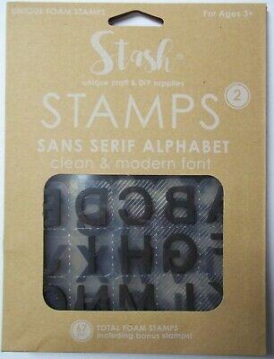 Stash Stamps for Kids Set of  67 Pcs  Alphabet  Foam mounted on Plastic   NIP - Stamps For Kids