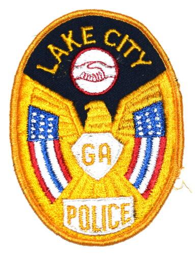 LAKE CITY GEORGIA GA Police Sheriff Patch HANDSHAKE VINTAGE OLD MESH ~
