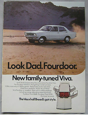 1969 Vauxhall Viva Original advert No.2