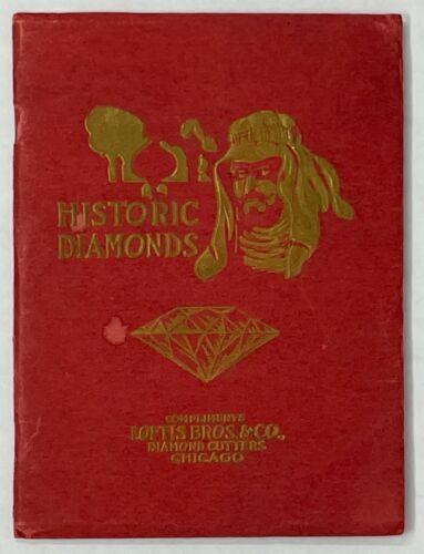 Loftus Bros. Chicago Antique Jewelry Ad Book Historic Diamonds 1919