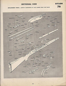 remington nylon 66 parts diagram reese fifth wheel hitch parts diagram 1964-remington-nylon-66-rifle-schematic-exploded-view ...