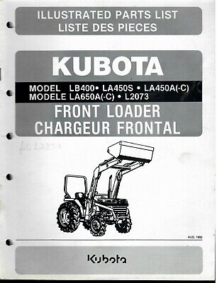 Lm0115 Kubota Front Loader Illustrated Parts List Lb400-la450s-la450a-c