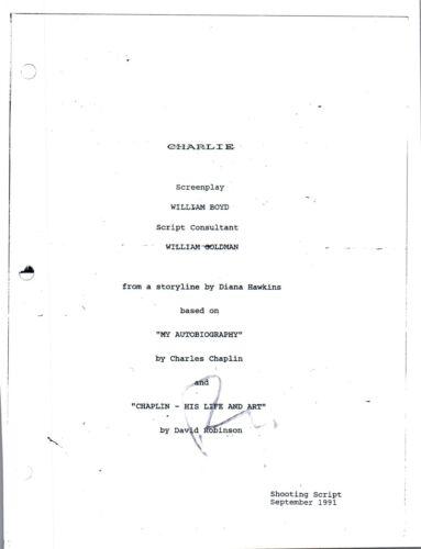 Robert Downey Jr Signed Autographed CHAPLIN Movie Script COA VD