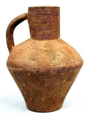 Art African African - Pot Ornamental Wooden Baoulé Sculpture Extra - 11,5 CMS