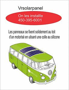 Panneau Solaire, panneaux Flexible 400 et 500 watts,  bateau, Vr