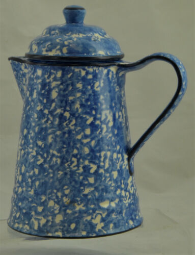 Stangl Town & Country Blue White 5 Cup Coffee Pot w/Lid