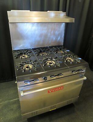 Vulcan Natural Gas 6-burner Stove Range W Standard Oven