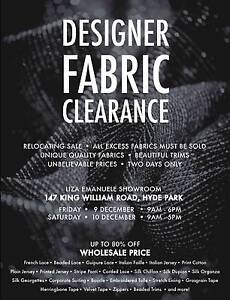 Designer Fabric Clearance Hyde Park Unley Area Preview