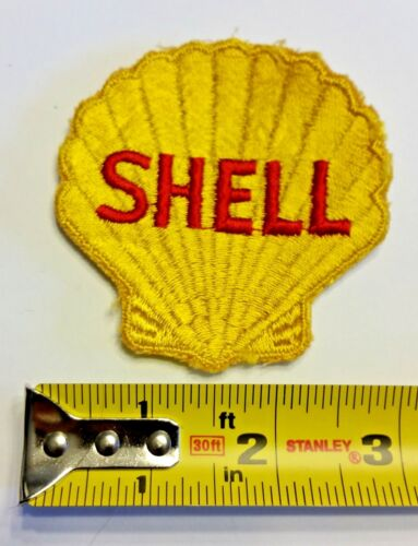 VINTAGE Embroidered Automotive Gasoline Patch (Original-UNUSED) SHELL Large