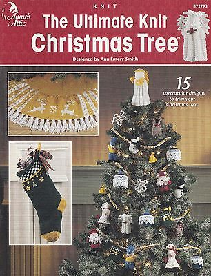 Ultimate Knit Christmas Tree, Annie's Pattern Booklet 872793 Ornaments & More - Knit Christmas Tree