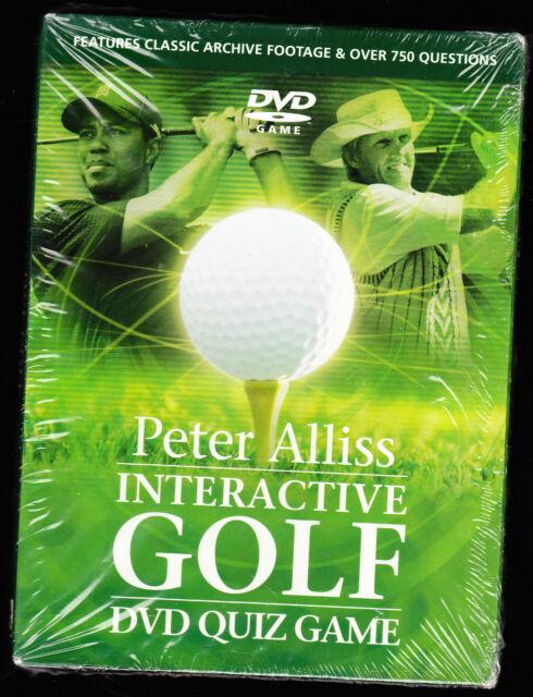 PETER ALLISS - INTERACTIVE GOLF DVD QUIZ GAME - 750+ QUESTIONS - NEW R2 DVD