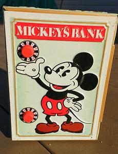 Vintage Disney - Mickey's Safe Bank