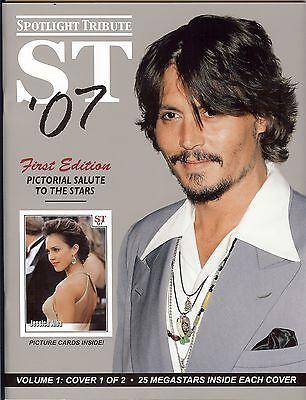 2007 SPOTLIGHT TRIBUTE Magazine - (Books 1 & 2) - 50 Celebrity Picture Cards