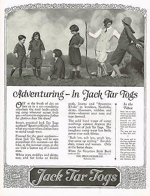 1920s BIG Vintage Jack Tar Togs Kids Childrens Clothing Fashion Art Print Ad