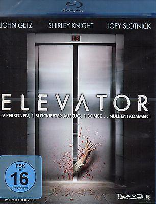 Elevator [Blu-ray] John Getz, Anita Briem, Joey Slotnick Neu!!!
