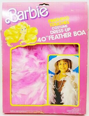 "Barbie Finishing Touches Costume Dress-Up 40"" Feather Boa 1989 #4718 Pink NRFP"