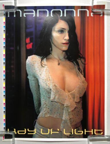 MADONNA Ray Of Light 1999 PROMO POSTER Luis Sanchis ARENA Magazine UNCUT SHEET