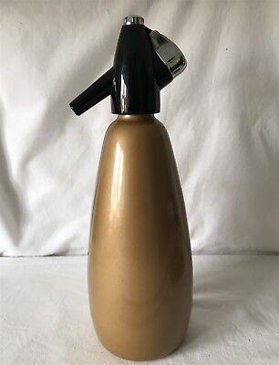 Vintage Aluminium BOC Sparklets Harvest Gold Coloured SHUC Soda Siphon 30cm
