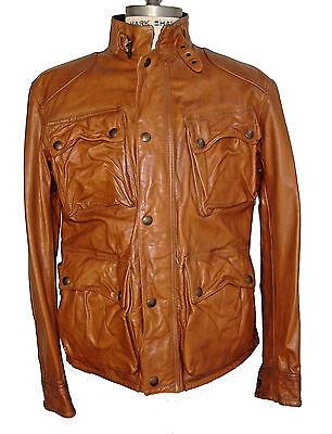 Ralph Lauren Southbury Leather Fashion Bike Biker Jacket US Size L Large NWT
