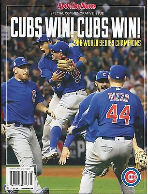 Sporting News Chicago Cubs World Series Special Edition Champions 2016